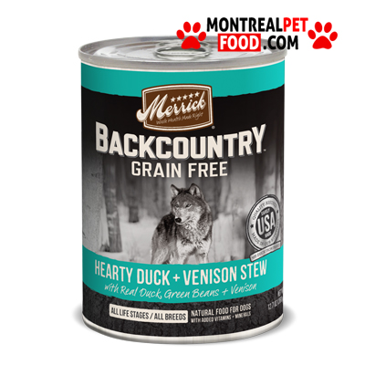 merrick_backcountry_canned_dog_food_duck_venison_stew
